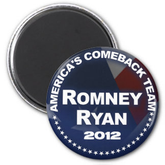 Romney Ryan 2012 - Anti Obama 2 Inch Round Magnet