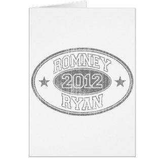 Romney Ryan 2012 b/w Card