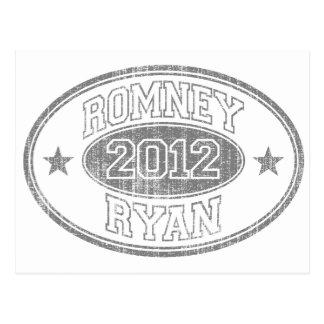 Romney Ryan 2012 b/w Postcard