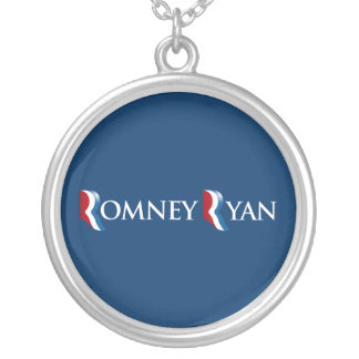 ROMNEY RYAN 2012 BANNER.png Round Pendant Necklace