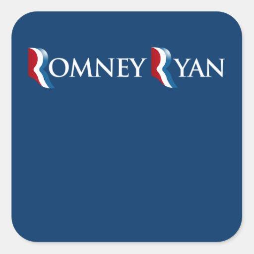 ROMNEY RYAN 2012 BANNER.png Square Sticker