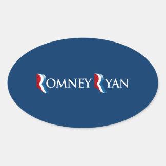 ROMNEY RYAN 2012 BANNER png Oval Sticker