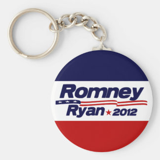Romney Ryan 2012 Basic Round Button Keychain