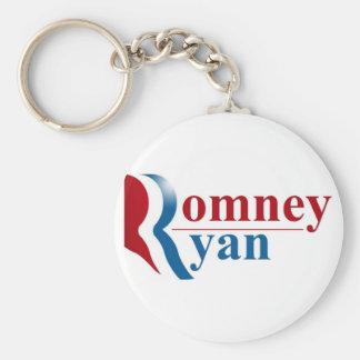 Romney & Ryan 2012 Basic Round Button Keychain