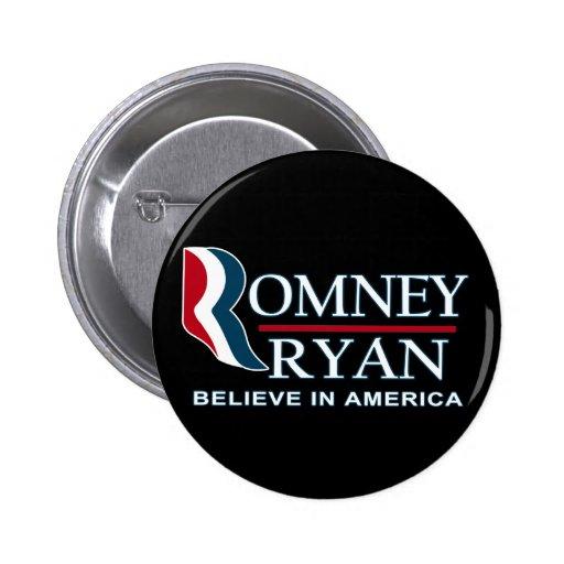 Romney / Ryan 2012 - Believe in America Pins