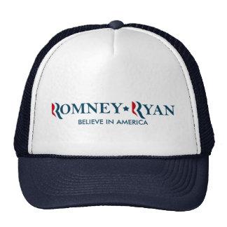Romney / Ryan 2012 - Believe in America Trucker Hat