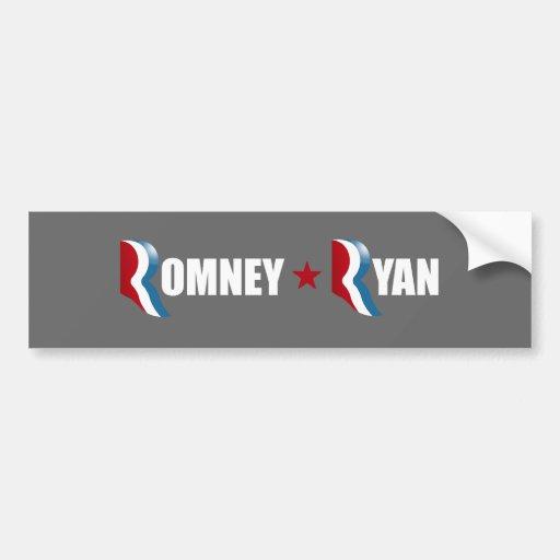 ROMNEY RYAN 2012 - BLACK -.png Bumper Stickers