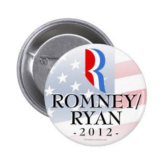 Romney/Ryan 2012, Bright White Button Badge