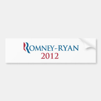 Romney/Ryan 2012 bumper sticker Car Bumper Sticker