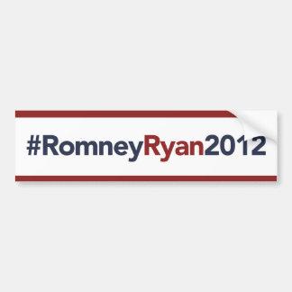 Romney Ryan 2012 Bumper Sticker Red White Blue
