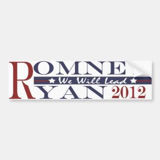 Romney Ryan 2012 Bumper Sticker We Will Lead