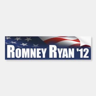 Romney - Ryan - 2012 Etiqueta De Parachoque