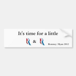 Romney Ryan 2012 Etiqueta De Parachoque