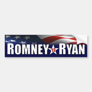 Romney - Ryan - 2012 Pegatina De Parachoque