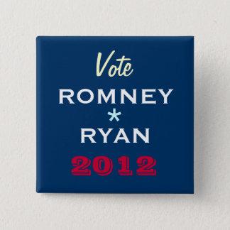 ROMNEY / RYAN 2012 Campaign Button (Square)