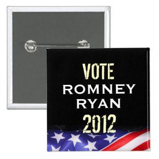 Romney Ryan 2012 Campaign Button (Square)