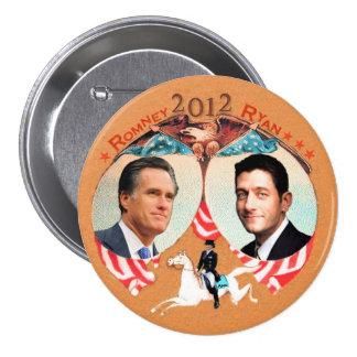 Romney Ryan 2012 con Ana en Refalca Pin Redondo De 3 Pulgadas