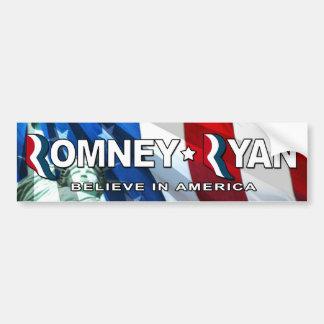 Romney/Ryan 2012 - crea en América Pegatina De Parachoque