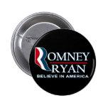 Romney/Ryan 2012 - crea en América Pins