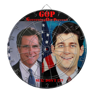 ROMNEY RYAN 2012 DARTBOARD