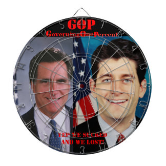 ROMNEY RYAN 2012 DARTBOARD WITH DARTS