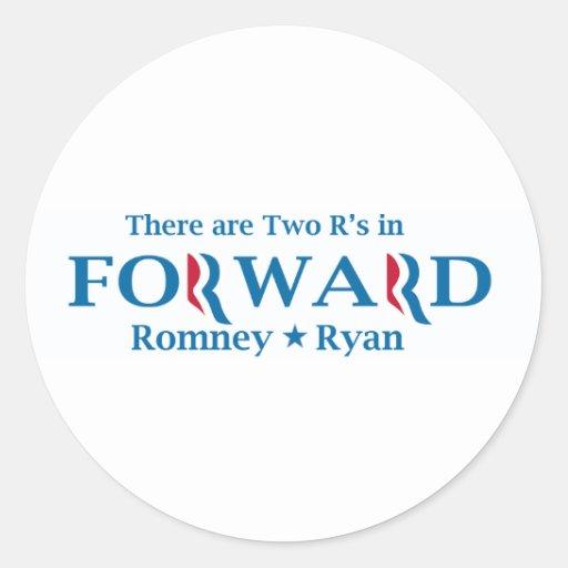 Romney Ryan 2012 Etiqueta Redonda