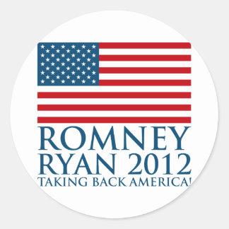 Romney Ryan 2012 Etiquetas