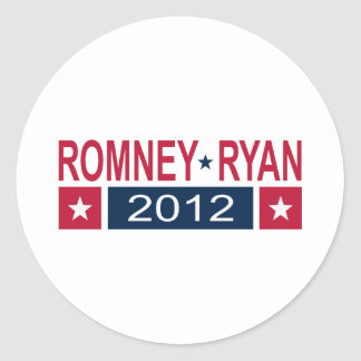 Romney Ryan 2012 Etiquetas Redondas
