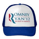 Romney / Ryan 2012 for US President and VP Mesh Hat