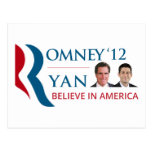Romney / Ryan 2012 for US President and VP Post Card