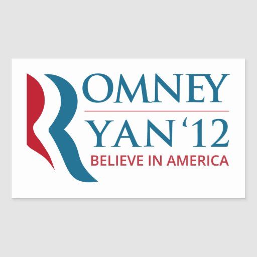 Romney / Ryan 2012 for US President and VP Rectangle Stickers
