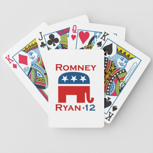 ROMNEY RYAN 2012 GOP BICYCLE PLAYING CARDS