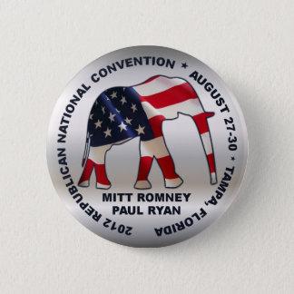 Romney Ryan 2012 GOP Convention Button
