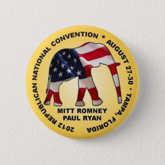 Romney Ryan 2012 GOP Convention Pinback Button