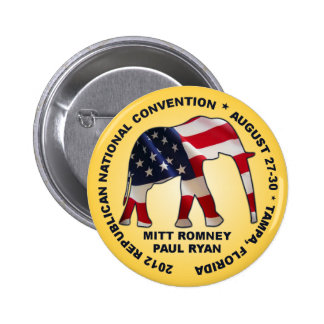 Romney Ryan 2012 GOP Convention Pinback Button