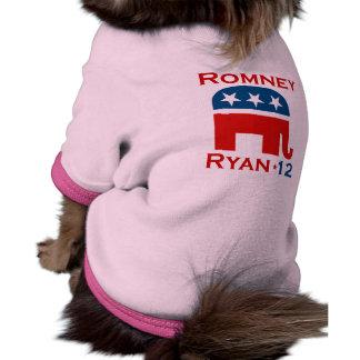 ROMNEY RYAN 2012 GOP PET T SHIRT