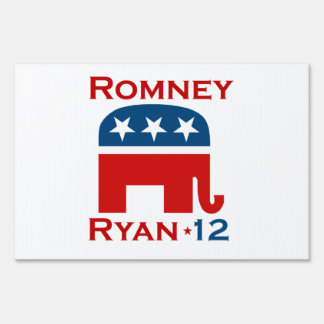 ROMNEY RYAN 2012 GOP LAWN SIGN