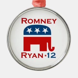 ROMNEY RYAN 2012 GOP METAL ORNAMENT