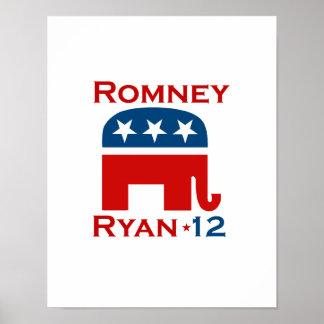 ROMNEY RYAN 2012 GOP POSTERS