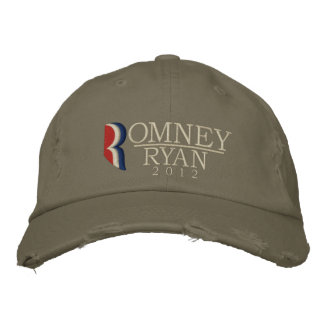 Romney/Ryan 2012 Grunge Vintage Embroidered Hat