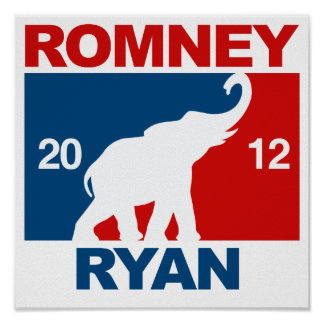 ROMNEY RYAN 2012 ICON.png PROFESIONALES Poster