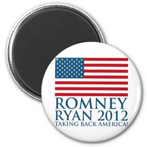 Romney Ryan 2012 Imán Redondo 5 Cm