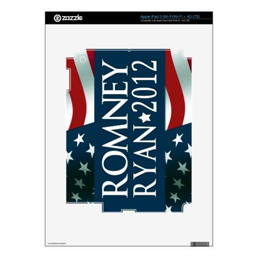 Romney Ryan 2012 iPad 3 Pegatina Skin