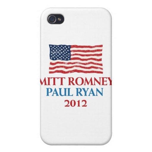 Romney Ryan 2012 iPhone 4 Carcasas