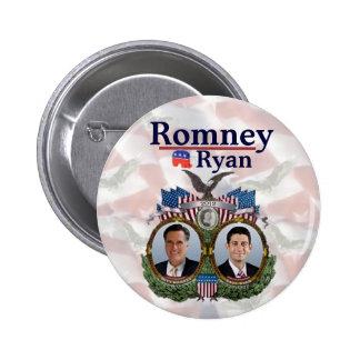 Romney Ryan 2012 Jugate Pinback Button
