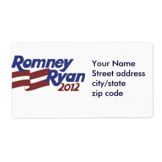 Romney Ryan 2012 Personalized Shipping Labels