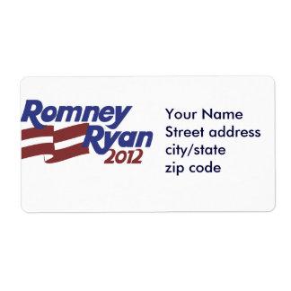 Romney Ryan 2012 Label