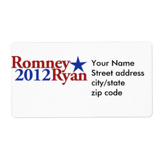 Romney Ryan 2012 Labels