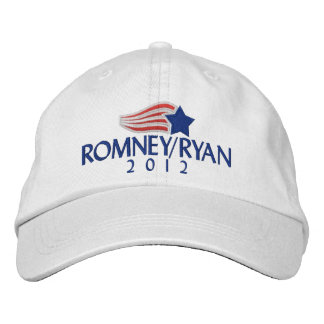 Romney/Ryan 2012 Light Embroidered Hat