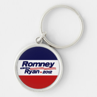 Romney Ryan 2012 Llavero Redondo Plateado